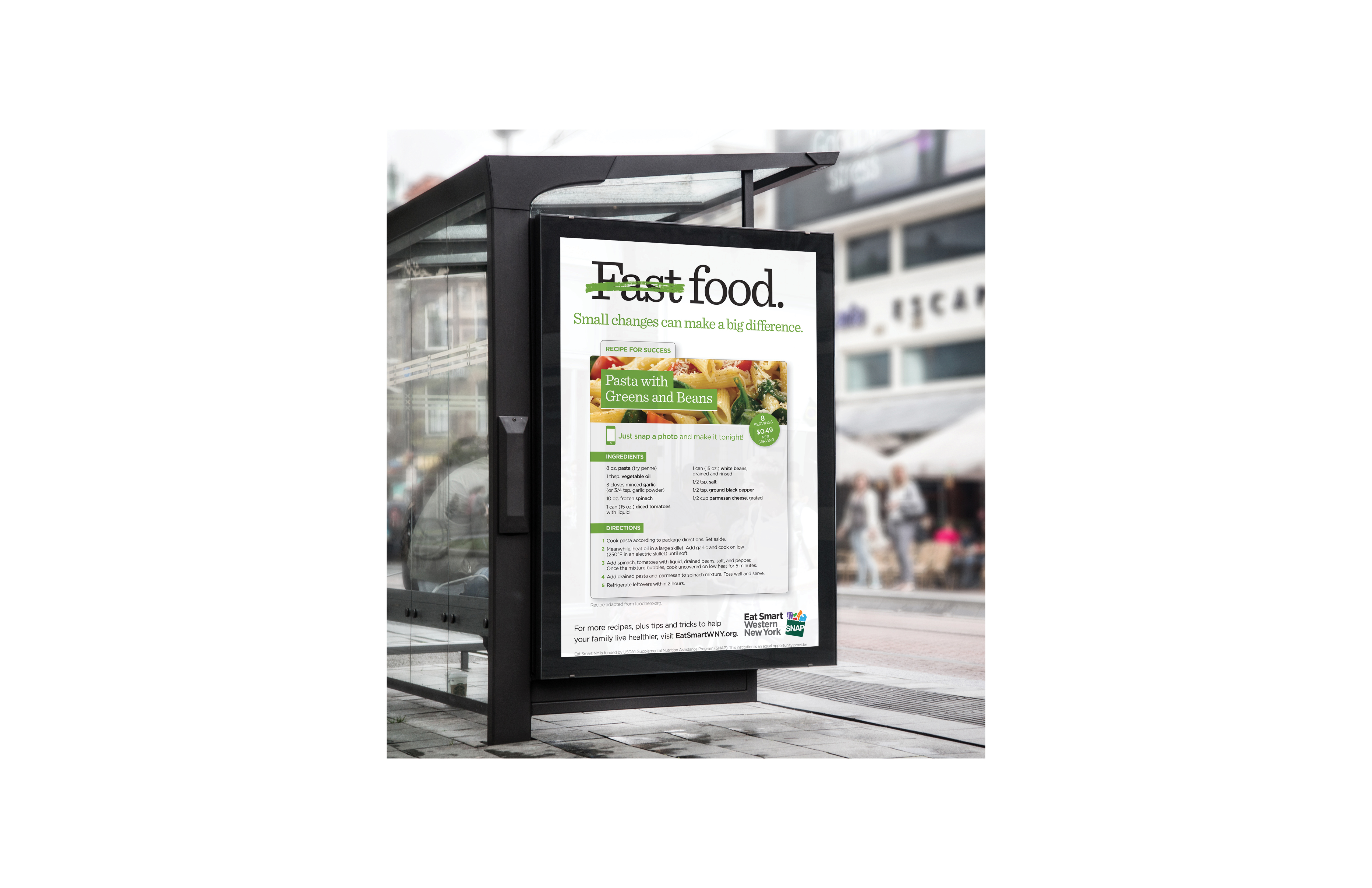 Eat Smart New York Bus Stop Recipe Fast Food