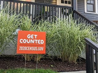 lawn sign for census